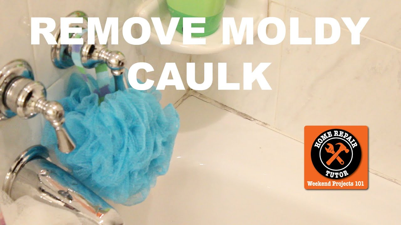 Remove and Replace Moldy Shower Caulk -- by Home Repair Tutor - YouTube