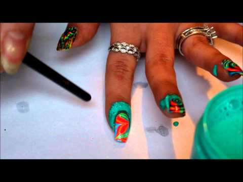 liquid latex for easy clean up with nail stamping