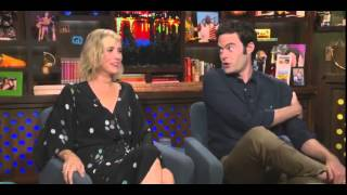 Kristen Wiig, and Bill Hader on the Watch What Happens Live! 2014