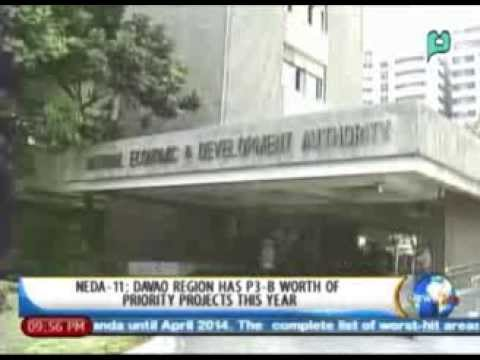 NEDA-11: Davao region has P3-B worth of priority projects this year || Jan. 14,