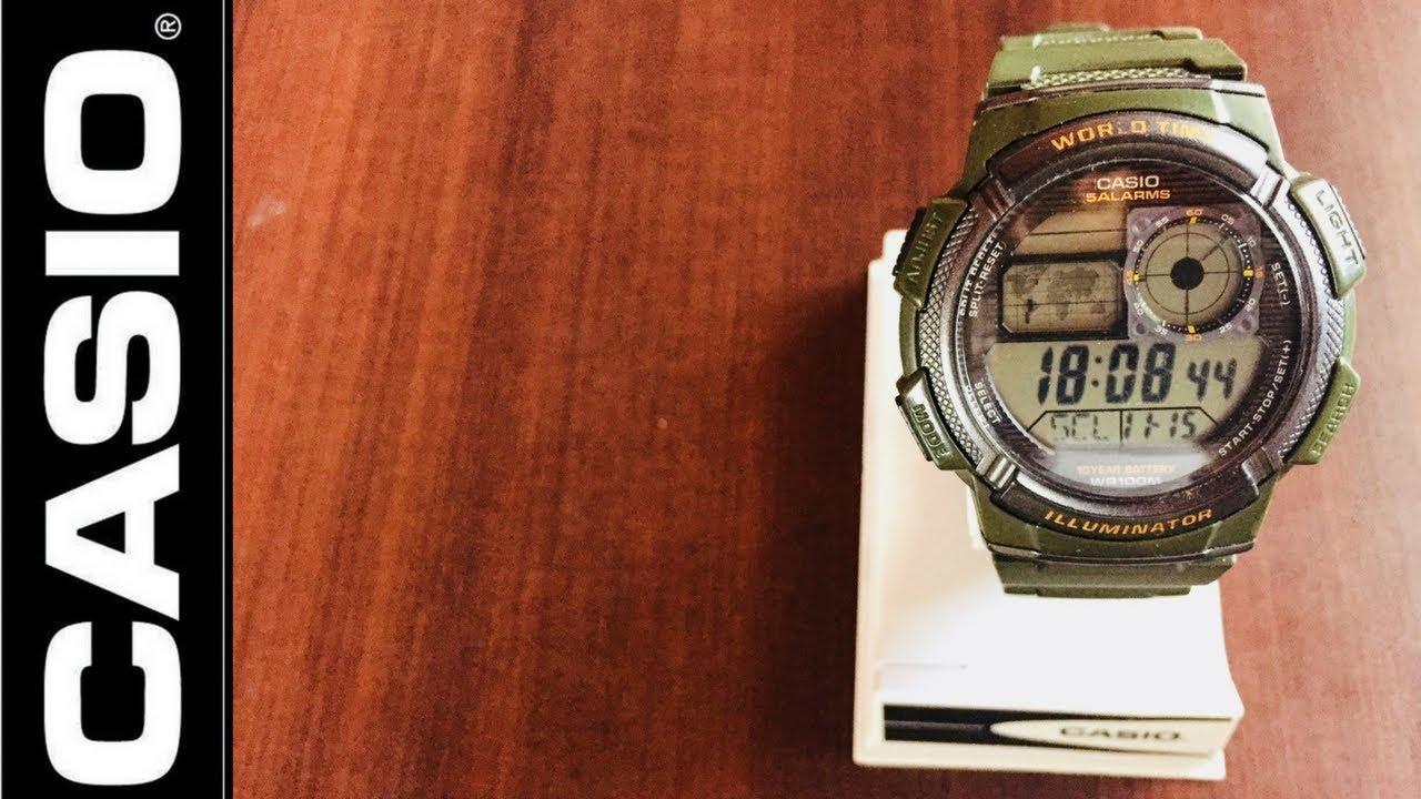 cdc1e99c3ef Tutorial en español Reloj Casio - YouTube