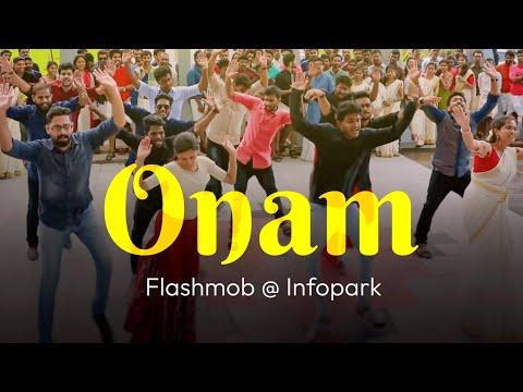 Flashmob at Infopark ( Jimikki Kammal  ) - Onam 2017...