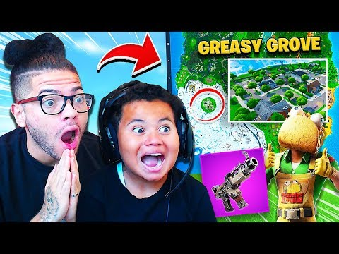 "Greasy Grove RETURNS to Fortnite! ""FAZE KAYLEN"" MY LITTLE BROTHER GETS 19 KILLS! UNVAULTED SMG OP!"