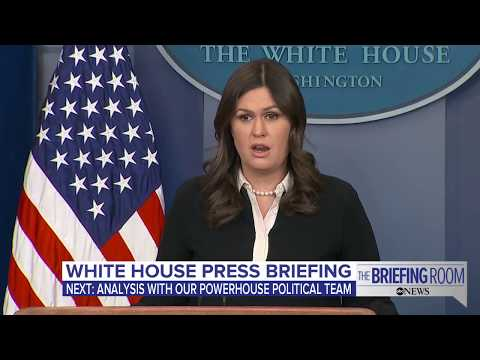 White House press briefing on Sens. Flake and McCain remarks on media,  Trump