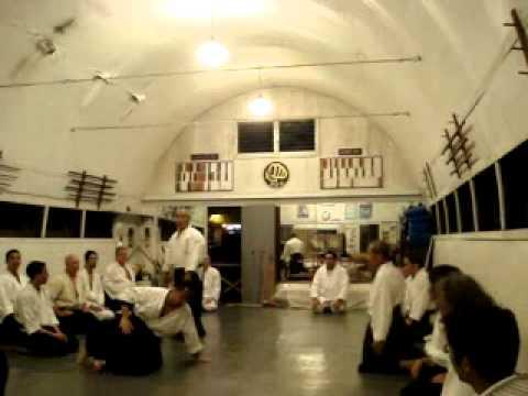 Takeshi Yamashima Sensei at Windward Aikido Club, Kaneohe Hawaii