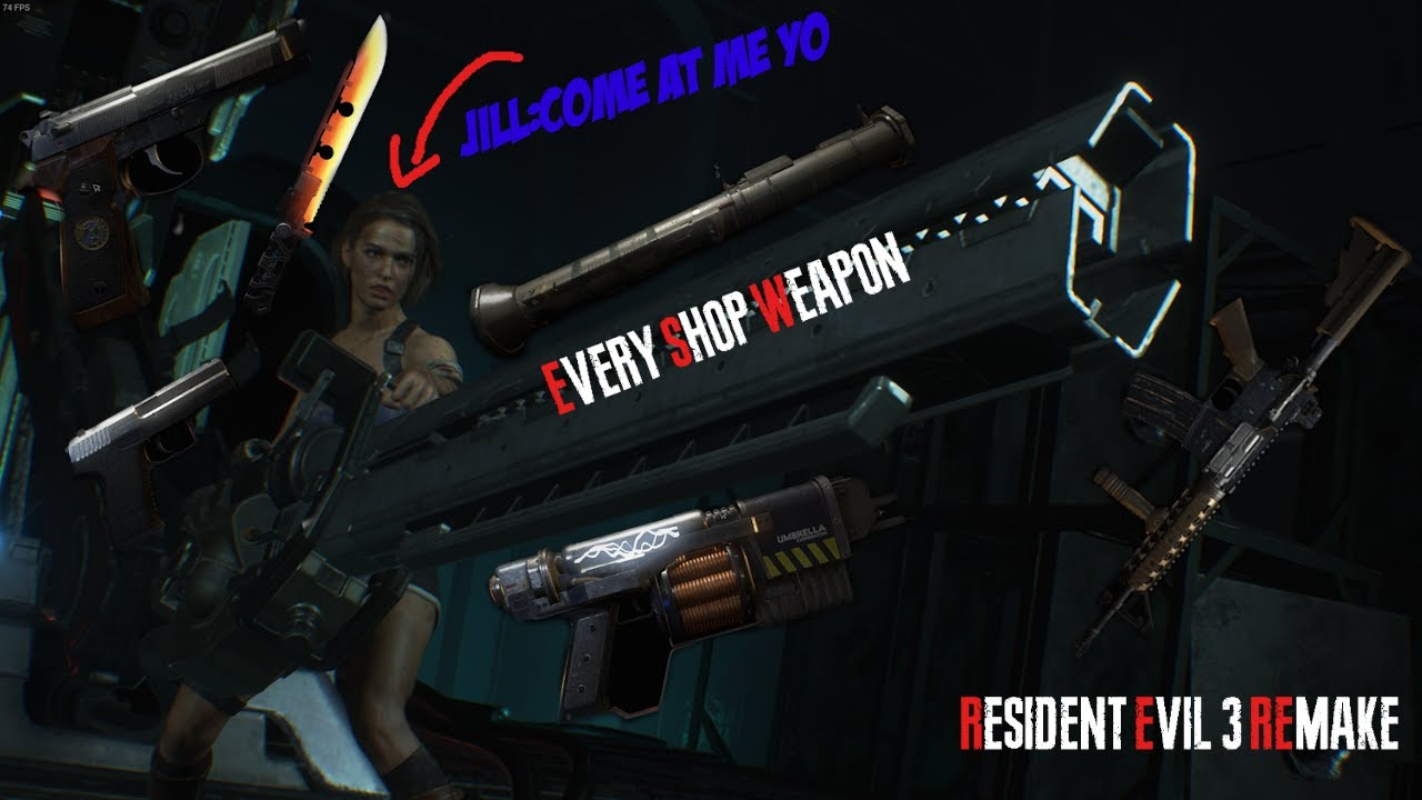Every Shop Weapon l Resident Evil 3 Remake