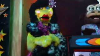 Drag queen animatronic singing thank god I