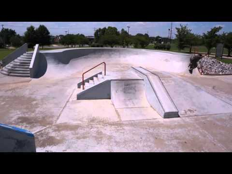 Aerial Video of Clarksville, TN Skate Park. 1080P