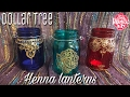 Dollar tree DIY Henna Lanterns - Moroccan Lanterns