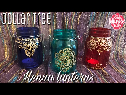 Dollar tree DIY Henna Lanterns - Moroccan Lanterns