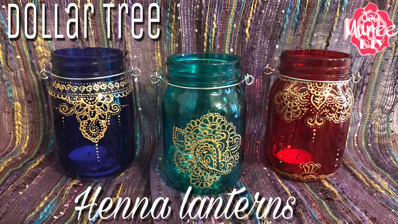 Dollar Tree Diy Henna Lanterns Moroccan Lanterns Youtube