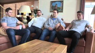 Sam Warburton, George North, Dan Lydiate and Scott Williams enjoy break at Hunter Lodges