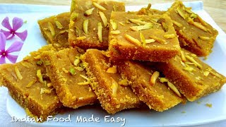 Besan Barfi - Besan ki Barfi Banane ki Recipe in Hindi by Indian Food Made Easy