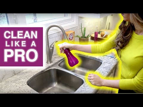 CLEAN LIKE A PRO: Cleaning the Kitchen Sink!
