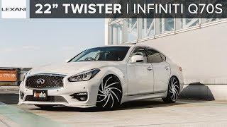"Infiniti Q70s on 22"" Twister Lexani Wheels Machine and Black Finish"
