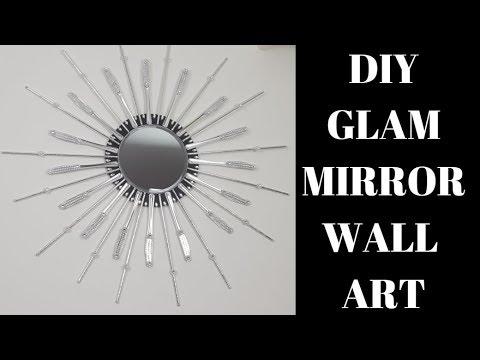 DIY Glam Wall Art 💕 Home Décor Dollar Tree pr 0999❤️