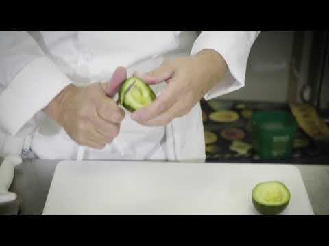 Cleaning an Avocado