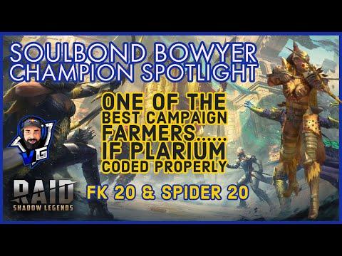 Raid Shadow Legends Soulbond Bowyer Build & Guide | Very good new rare champion!!