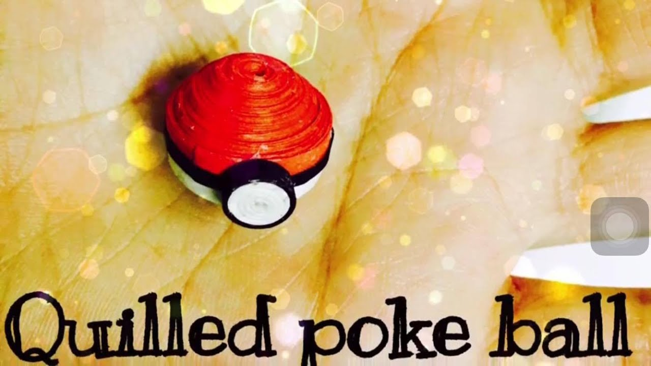 Papercraft Miniature 3d Pokeball : 3d Quilling tutorial
