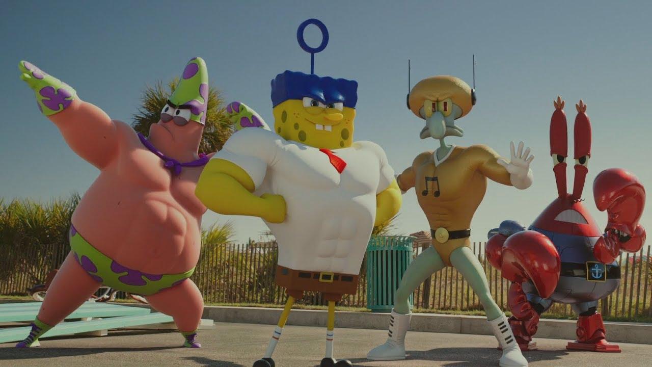 Download The SpongeBob Movie : Sponge Out of Water (2015) -  SpongeBob's Team vs Burger Beard Scene