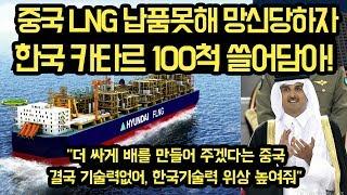 """중국LNG선 납품못해 망신당하자, 한국조선업이 카타르 100척수주 다 가져가는 상황, """"일본체념, 한국의 조선업을 따라잡을 수 없다"""""""