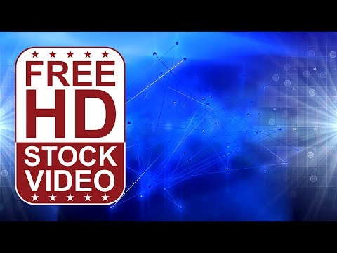 FREE HD video backgrounds - abstract blue hi tech digital background with lines wires connections