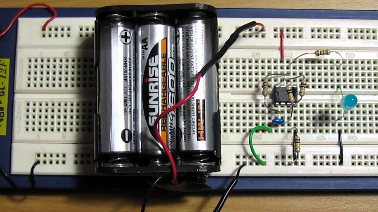 Opamp Oscillator  LED Flasher Circuit using LM741  YouTube