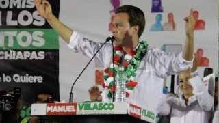 Manuel Velasco Coello en Villacorzo, Chiapas.