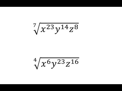 Simplify Radicals with Variables (Large Index and Exponents)