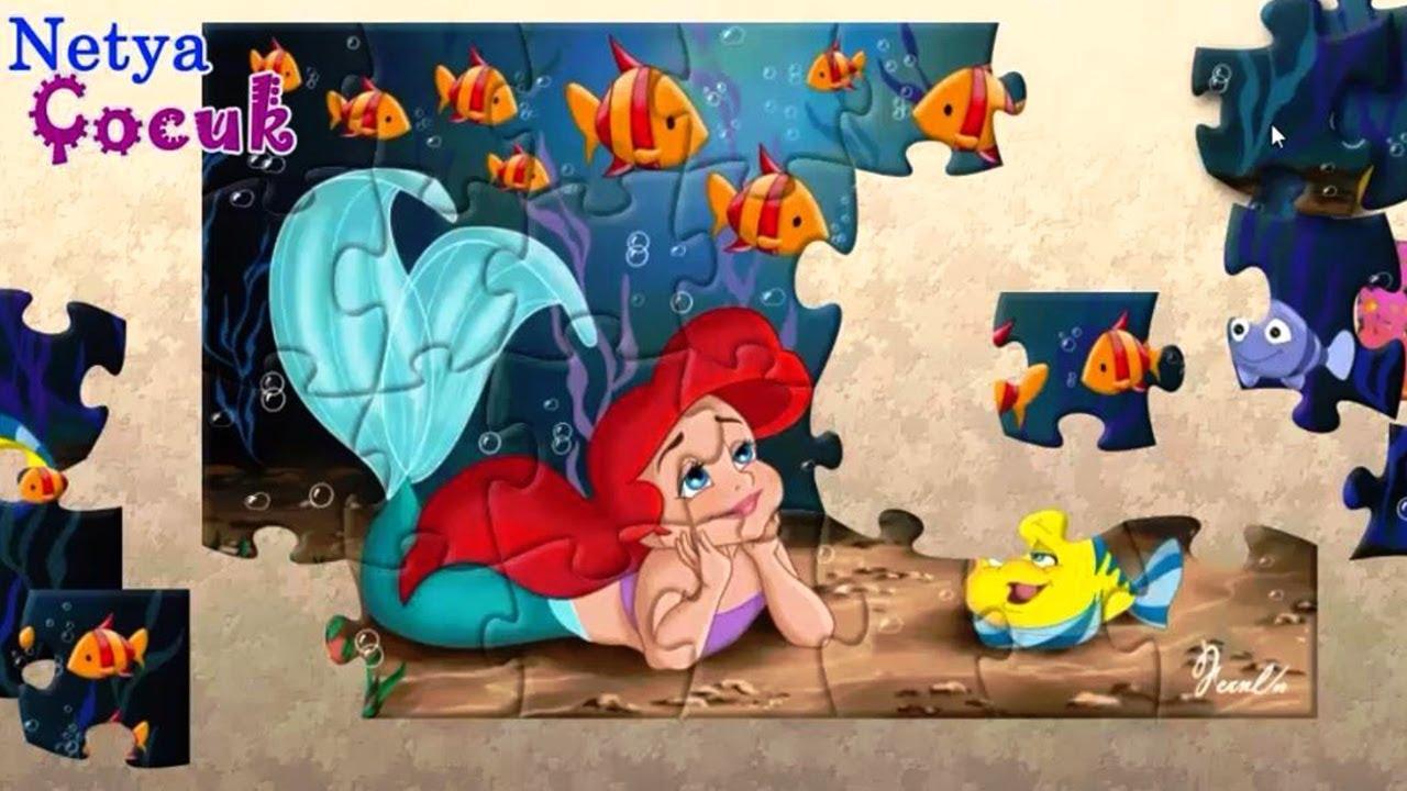 Deniz Kızı Ariel Puzzle Ariel Yapboz Oyunu Oynuyoruz Netya çocuk