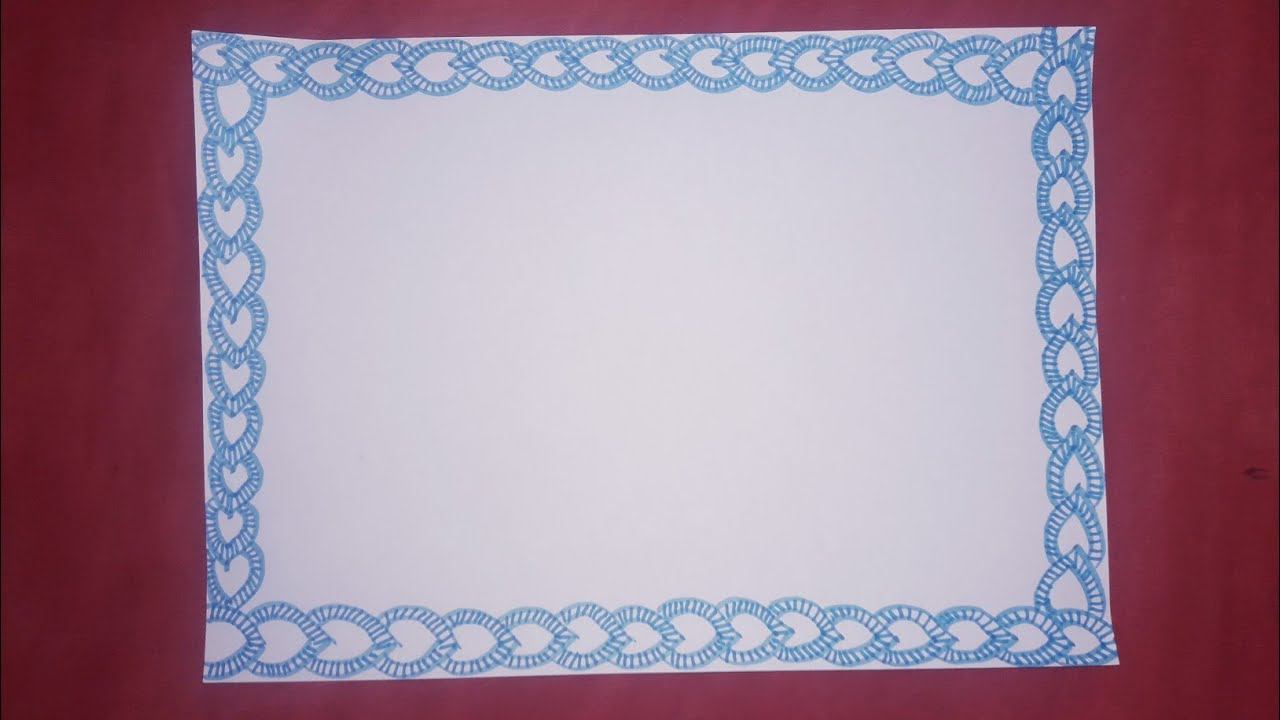 Page border design for projects drawing| paper border ...