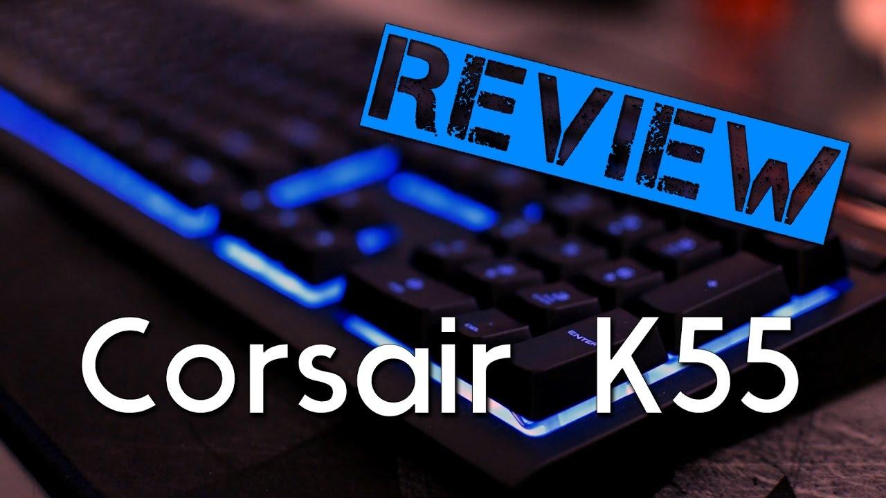 une pluie de fonctions pour ce clavier 65 test du corsair k55 rgb review youtube. Black Bedroom Furniture Sets. Home Design Ideas