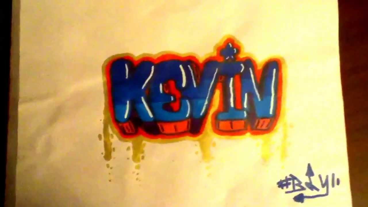 Graffiti sur papier kevin youtube