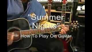 John Travolta Olivia Newton-John SUMMER NIGHTS Guitar Lesson @EricBlackmonGuitar