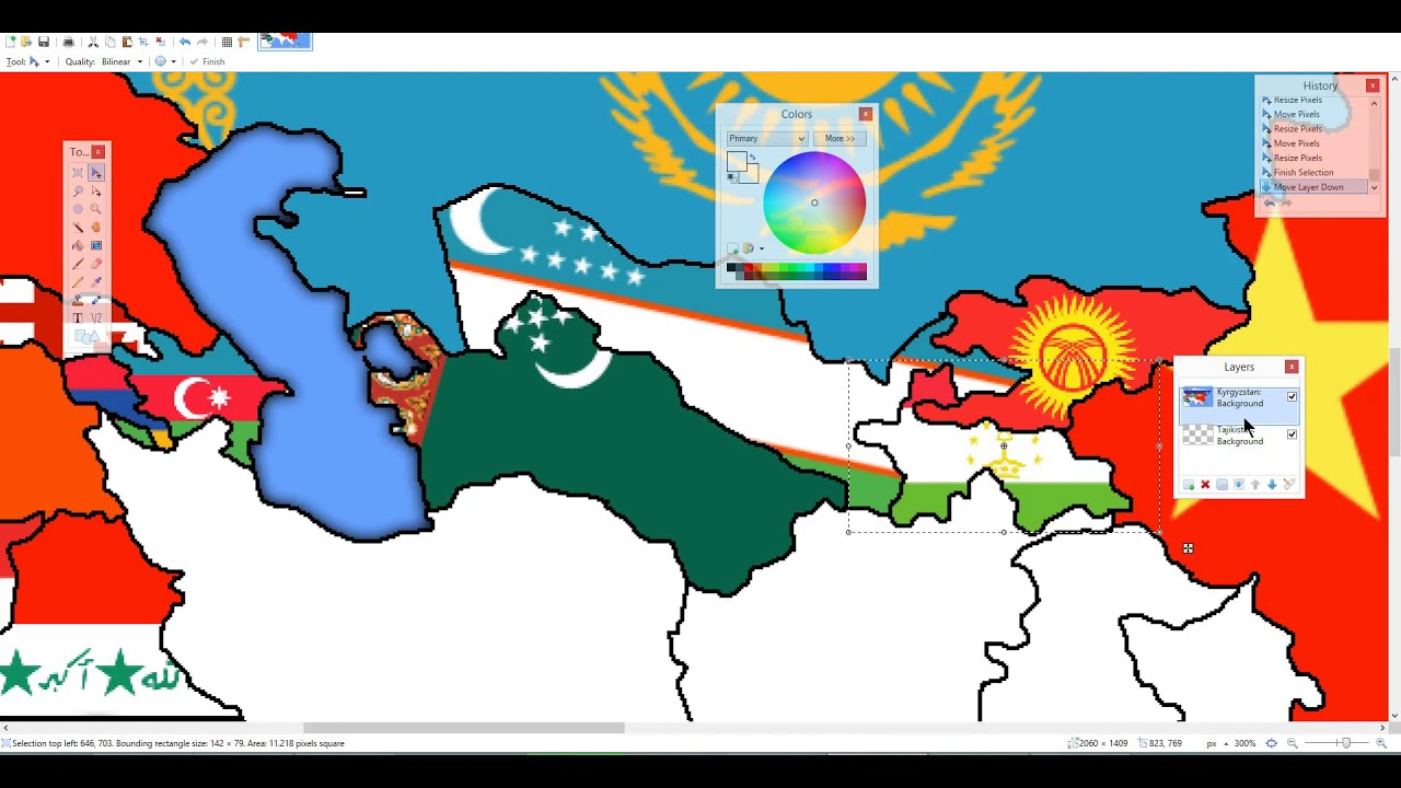 Asian Flag Map Timelapse (Excluding Some Southeastern Countries ...