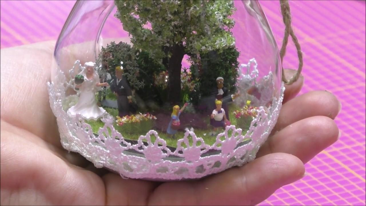 Deko Mini Diorama Eine Hochzeit In Der Gluhbirne Youtube