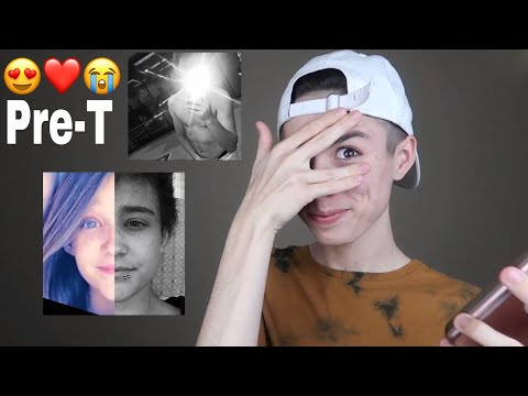 Reacting To My Boyfriends Pre-Transition Photos || Tyler Brown