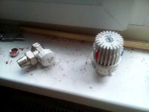 Запорная арматура радиатора для тех кто вообще не в курсе.
