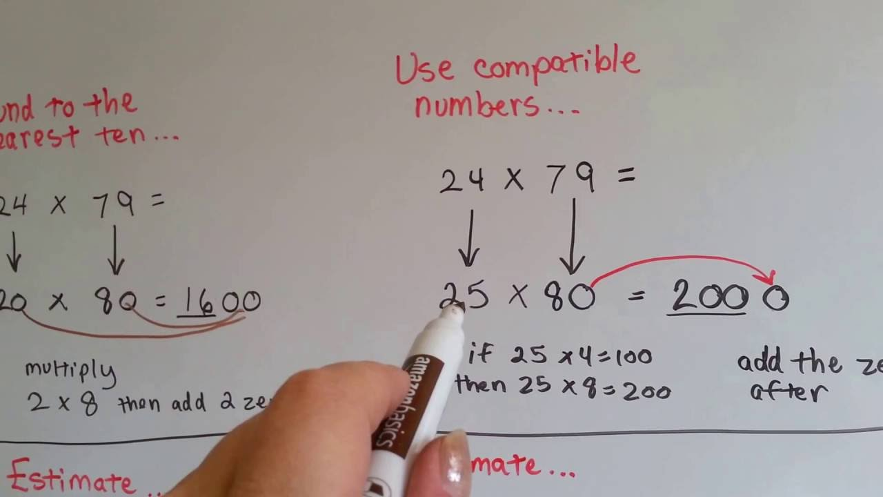 Grade 4 Math 3 2 Estimate Products For 2 Digit Multiplication Youtube