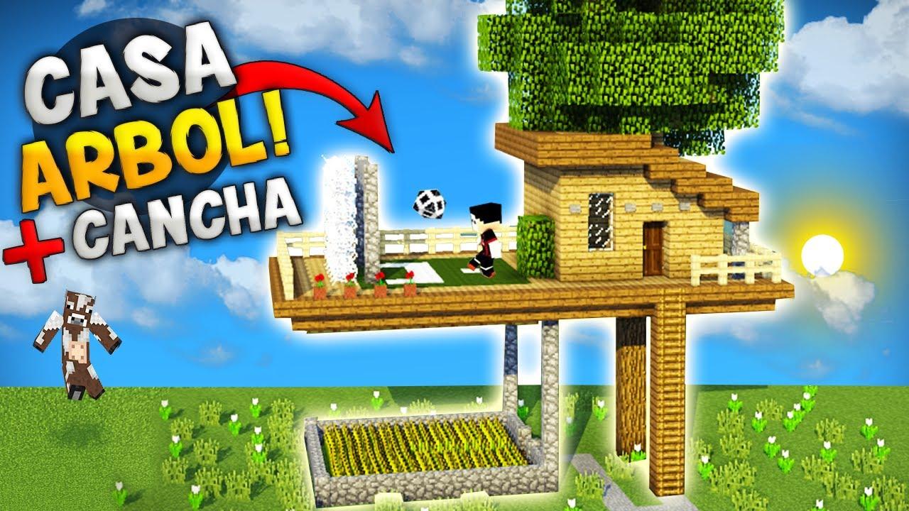 Minecraft crea una pica casa en el rbol con cancha de - Casas de arbol ...