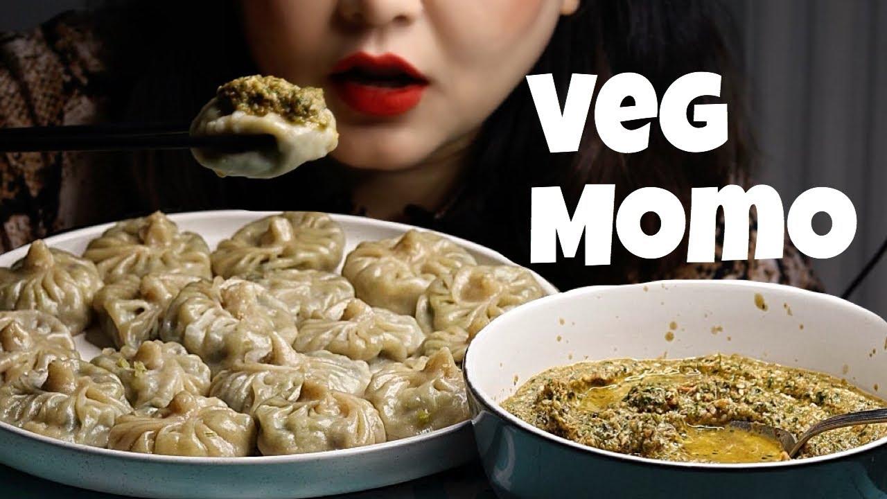 Download VEG MOMO/DUMPLING MUKBANG EATING SHOW