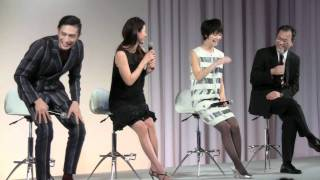 【au 2012年春モデル発表会】井川遥、伊勢谷友介、剛力彩芽がそろい踏み
