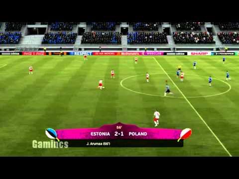 UEFA Euro 2012: Estonia vs Poland: Group Match 3