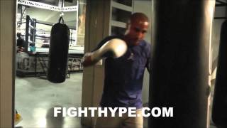 ANDRE WARD DEMONSTRATES WHAT TO DO WHEN FACING SOUTHPAWS OR TALL/LANKY FIGHTERS thumbnail