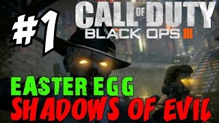 "BLACK OPS 3 ZOMBIES: Shadows of Evil! ★ ""LIVE EASTER EGG RUNTHROUGH! [1]"" Let"
