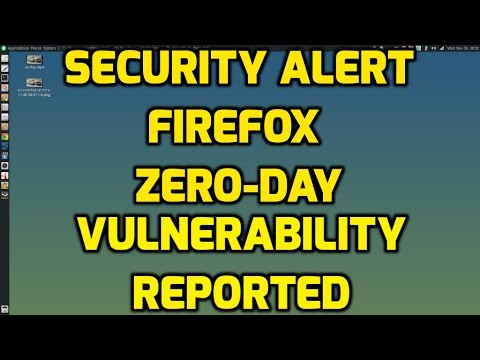 Security Alert - Firefox Zero-Day Vulnerability Reported - UPDATE 2