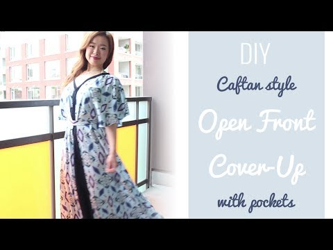 DIY Caftan style Open Front Cover-Up with pockets!