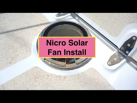 Diy Nicro Solar Fan Installation Youtube