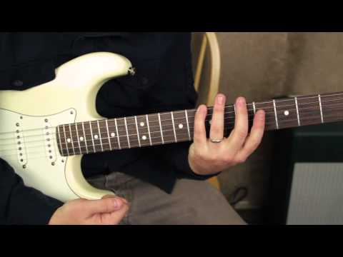 Blues Guitar Lessons - Stevie Ray Vaughan - Cold Shot - How To Play On Guitar - Tutorial