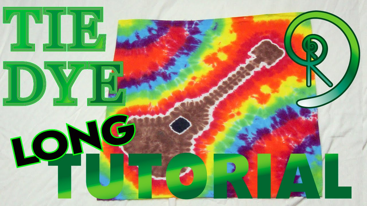 Rainbow Guitar Tie Dye  Long Tutorial   71 - YouTube 662636235